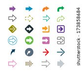 set of colorful arrows signs | Shutterstock .eps vector #173858684