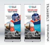 roll up banner design template  ... | Shutterstock .eps vector #1738599761