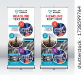 roll up banner design template  ... | Shutterstock .eps vector #1738599764