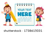 blank note book template with... | Shutterstock .eps vector #1738615031