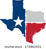 distressed texture texas state... | Shutterstock .eps vector #173862431