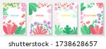 vector set floral background ... | Shutterstock .eps vector #1738628657