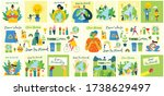 big set of eco save environment ... | Shutterstock .eps vector #1738629497