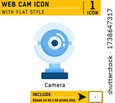 web cam premium icon with flat...