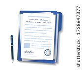 contractual documents. a... | Shutterstock .eps vector #1738647377