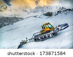 Snow Groomer On Kasprowy Wierch