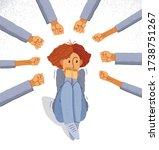 bullying vector concept ... | Shutterstock .eps vector #1738751267