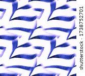 Seamless Pattern. Blue On Whit...