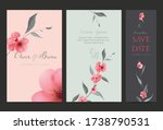 wedding invitation design set.... | Shutterstock .eps vector #1738790531