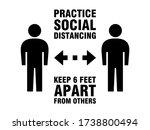 practice social distancing keep ...   Shutterstock .eps vector #1738800494
