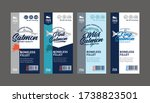 Vector Salmon Vertical Labels....