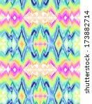 colorful tie dye ikat  ... | Shutterstock .eps vector #173882714