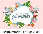 summer background template for... | Shutterstock .eps vector #1738859204