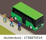 social distance at public... | Shutterstock .eps vector #1738870514