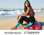 A Beuatiful Surfer Girl Making...