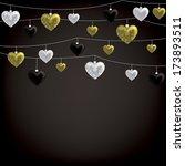 string of valentine baubles... | Shutterstock .eps vector #173893511