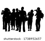 photograph and photo camera on... | Shutterstock .eps vector #1738952657