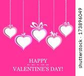 happy valentine's day  heart... | Shutterstock . vector #173896049