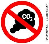 no carbon emission vector sign... | Shutterstock .eps vector #1738963154