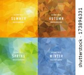 geometric four seasons... | Shutterstock .eps vector #173896331