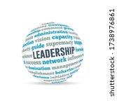 leadership sphere concept...   Shutterstock .eps vector #1738976861