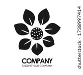 eco leaf vector logo monogram.... | Shutterstock .eps vector #1738997414