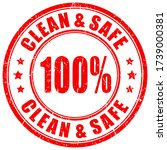 clean and safe vector stamp... | Shutterstock .eps vector #1739000381