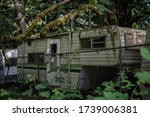 Abandoned Caravan With Nature...