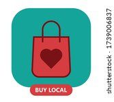 buy local  support small... | Shutterstock .eps vector #1739006837