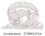 stay at home.quarantine...   Shutterstock .eps vector #1739012714