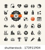 health and fitness   web icon... | Shutterstock .eps vector #173911904