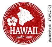 vintage stamp with text  aloha... | Shutterstock .eps vector #173912405