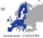 detailed blue flat political...   Shutterstock .eps vector #1739127491