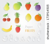 paper fruit set | Shutterstock .eps vector #173914505
