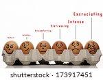 pain intensity scale concept... | Shutterstock . vector #173917451