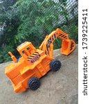 Orange Colour Truck. Kids Toy...