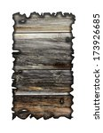 charred wood board isolated on... | Shutterstock . vector #173926685
