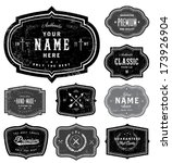 vector retro badge set. great... | Shutterstock .eps vector #173926904