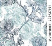 elegant seamless pattern with... | Shutterstock . vector #173927954