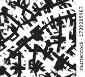 black and white grunge... | Shutterstock .eps vector #1739285987