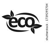 eco leaf vector logo monogram.... | Shutterstock .eps vector #1739295704