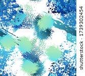 worn texture splatter surface.... | Shutterstock .eps vector #1739302454