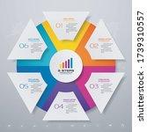 6 steps simple editable process ... | Shutterstock .eps vector #1739310557