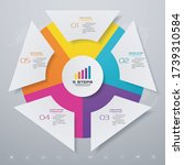 5 steps simple editable process ... | Shutterstock .eps vector #1739310584