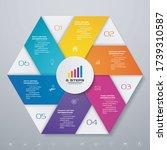 6 steps simple editable process ... | Shutterstock .eps vector #1739310587