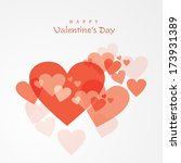 happy valentines day... | Shutterstock .eps vector #173931389