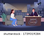 night show flat color vector... | Shutterstock .eps vector #1739319284