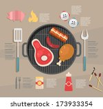 infographic. barbecue | Shutterstock .eps vector #173933354