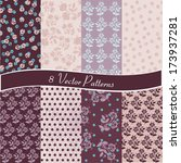 set of 8 vector patterns.... | Shutterstock .eps vector #173937281