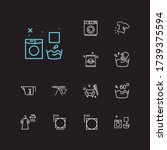 textile icons set. info and...